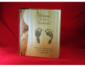 Engraved Custom Personalized Baby Photo Picture Album Book