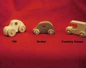 Waldorf Inspired, Eco Friendly, Handmade Children's Three Car Set