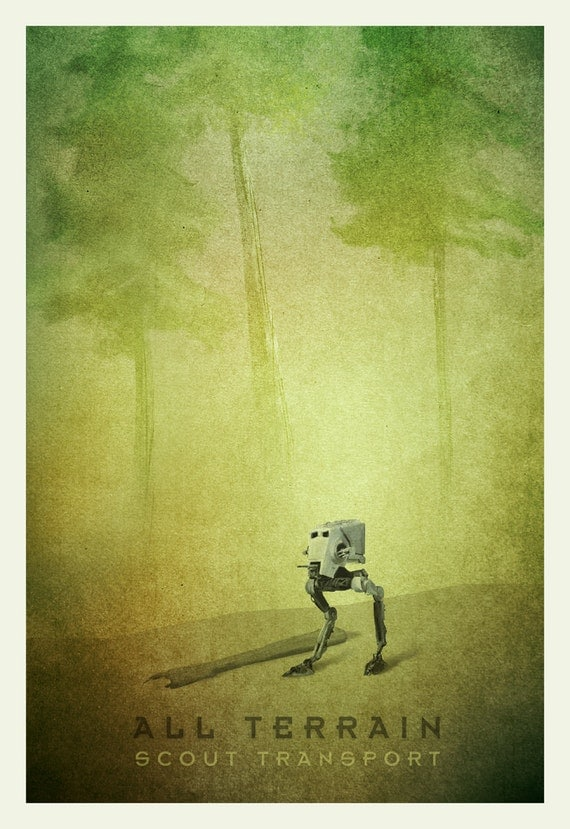 Star Wars Transport Series: AT-ST Limited Edition Print