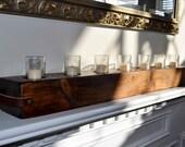 2 Sided Reclaimed Barn Beam Candle Holder Douglas Fir