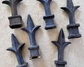 40 Fleur De Lis Vintage Iron Fence Caps for LBDK