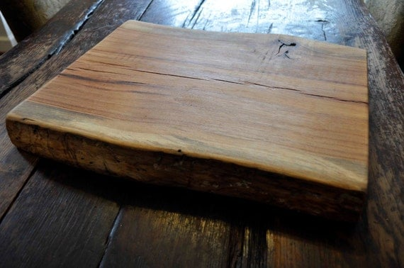 Thick slab hickory cutting board