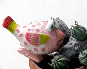 Handmade Ceramic Pink BIRD