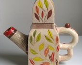 OOAK Handmade Ceramic Collection Teapot BUDAPEST TEAPOT