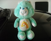Plush Blue Care Bear from 1983
