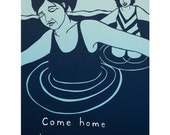 Blank Greeting Card: Come Home