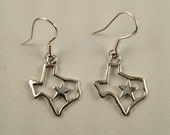 "Earrings, ""Cowgirl-Up"" sterling silver earrings of the state of Texas"