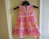 Girl's Seersucker Summer Dress Size 3