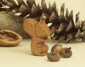 Wooden Squirrel - Waldorf Animal Toy - Handmade and Ecofriendly - Stocking Stuffer