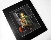 Midnight in the Closet: 11x14 Matted Signed Print - dark whimsical fairytale monster art 8x10 - WylieEliseBeckert