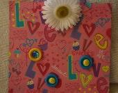 "Magnetic  ""LOVE"" Memo Board / Picture Frame"