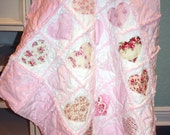 RAG Instructions Quilt Pattern make a Heart RAG Quilt Baby Toddler Sew Easy to Make