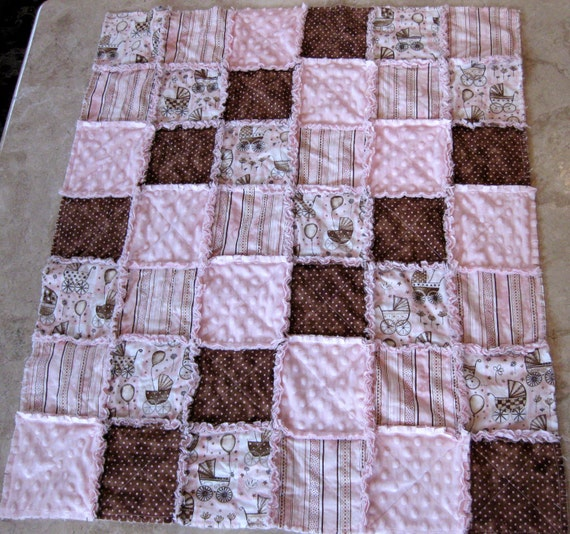 Quilting Patterns Instructions : Items similar to RAG Instructions Quilt Pattern make a RAG Quilt Baby Toddler Sew Easy to Make ...