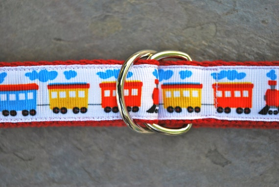 Baby/Children's Choo Choo Belt on red webbing