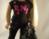 American Girl Doll,Love Pink-Jacket,Tee,Pants and Shoes by MI GURLZ CLOTHING