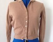 1950s vintage cashmere sweater top S M