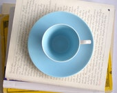 Poole pottery Twintone tea / coffee cup and saucer