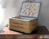 Sewing / crafts wicker storage box