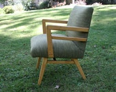 Heywood Wakefield style chair updated in Knoll fabric