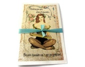Funny Thank You Card, Retro Thank You Card, Funny Friend Card, Pin Up Girl Card, Chocolate Pregnancy Funny Card