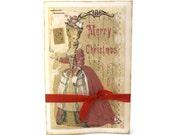 Christmas Card, Paris, Marie Antoinette, Christmas in Paris, Neoclassical, Parisian, French Ephemera, Holiday Card