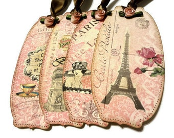 Items similar to shabby chic dresses gift tags no105 - Il cottage paris ...