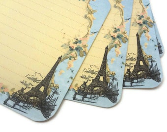 French Recipe Cards, Funny Recipe Cards, Paris Bridal Shower, Hostess Gift, Vintage Paris, Eiffel Tower, 4x6, Set of 12