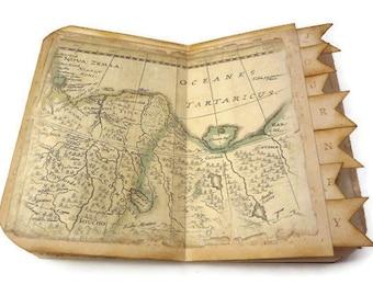 Travel Journal, Travel Scrapbook, Old World Map, Wanderlust Journal, Vacation Journal, Travel Log, Vintage Maps Journal, MADE TO ORDER