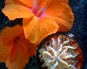 Hawaiian Tropical Pineapple Banana Whippy Coconut Shea Butter Cream Detox with RED Alaea Volcanic Sea Salt Spa Scrub Pura Gioia