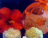 Honeysuckle Blossoms SPA Gift Bag Whippy Body Butter 4 oz Foaming Body Butter Scrub 4 oz FREE Lip Joy Pura Gioia