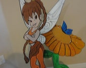 """3 feet tinkerbell  Friends or any character Birthday party Centerpiece, cut out Wood or foam """"Standees"""""""