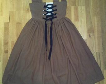 Historical Tudor girl's  theatrical fancy dress costume