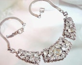 Vintage Rhinestone Necklace Signed Barclay   1345ag-012312000
