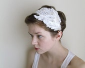 Cupid's Wing  Lace Bridal Headpiece-