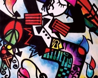 Michael Jackson Abstract Painting