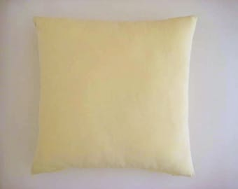 """Cream Pillow Cover - Linen Cream - 18x18"""" - Gift for Her, for Mom - Ready for Shipping"""