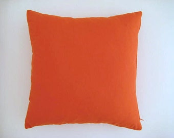 Orange Pillow Cover - Linen Orange - Gift for Her, for Mom - Ready to Ship, Home Decoration