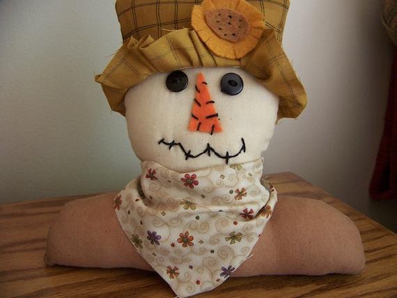 Tillie OOAK Scarecrow Girl Primitive Handmade Shelf Sitter