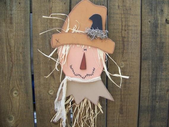 Fall Primitive Wooden Scarecrow Door Greeter/Wall Hanging
