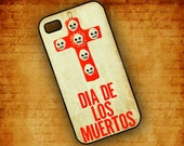 Dia de Los Muertos Iphone cover, cell phone case  - Day of the Dead Iphone 4 and Iphone 4s, sugar skull cellphone accessory (9581)