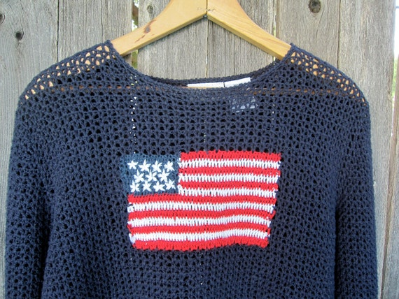 Red White and Blue Long Sleeve USA American Flag shirt, Patriotic for the 4th of July
