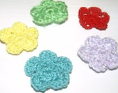 crochet flowers made to order set of 10