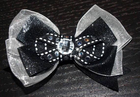 black and silver bow