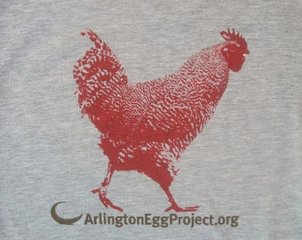 Arlington Egg Project T Shirt- Mens/ Unisex Tee -Urban Chicken
