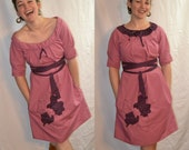 Eco-Conscious Romantic Off-The-Shoulder Pink Dress. Small/Medium. FREE SHIPPING in the US.