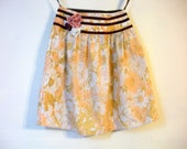 Shabby Chic Pink And Brown Skirt. Pockets. Vintage & Found Materials. Small. FREE SHIPPING in the US.