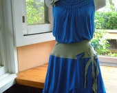 Eco-Conscious Up-cycled Morning Glory Summer Dress. Medium. Free shipping in the US.