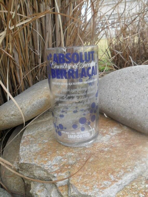 Reclaimed Absolut Berri Acai Vodka Tumbler