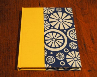 Yellow and Blue Pinwheel Lined/Graph Notebook