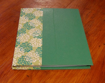 Green Flowered Blank Journal/Sketchbook